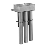 "Triple Metal OTS Titanium Heater, 15000W, Hot zone, 25 in., 35"" overall length"