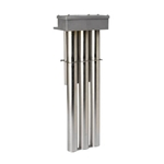 "DERATED Triple Metal OTS 316 Stainless Heater, 15000W, Hot zone, 49 in., 59"" overall length"