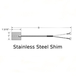 Stainless Steel Spade Thermocouple with Fiberglass Insulated Leadwires