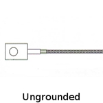 Ungrounded Ring Thermocouple .44 inch ID Ring Size with Fiberglass Insulated Leadwires