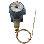 Hazardous Area Bulb and Capillary Temp. Controller for 15 to 140°F, Ambient Sensing