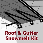 SpeedTrace Roof & Gutter Snowmelt Kit, 100 ft