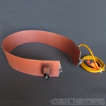 "Silicone Band Heater: 16"" diam. x 4"" wide, spring closure, 150W, 220V, with Thermostat - CLEARANCE"